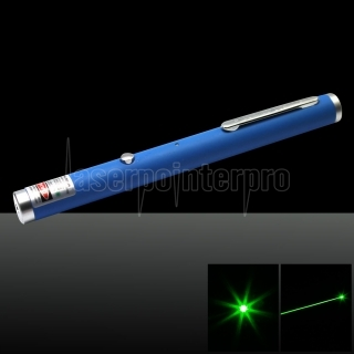 100mW 532nm Green USB Rechargeable Fine Copper Laser Pointer Blue
