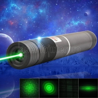 1000mW 532nm Green Beam Light Focusing Pen puntero láser portátil negro LT-HJG0086