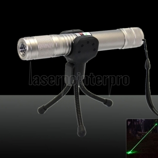 100mW 532nm Green Beam Light Waterproof Laser Pointer Pen Silver