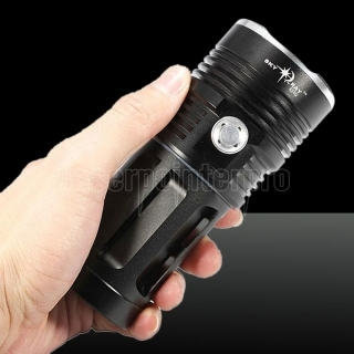 LT-SKYRAY KING  6*T6 8000LM Aluminum Alloy LED Flashlight Suit Black