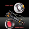 T6 2000lm Attack Heads + Audible Alarm LED White Flashlight Black