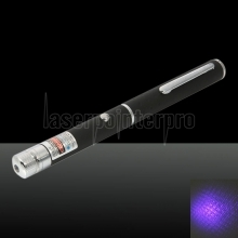 1mw 405nm Blue and Purple Beam Light Starry Sky & Single-point Laser Pointer Pen Black