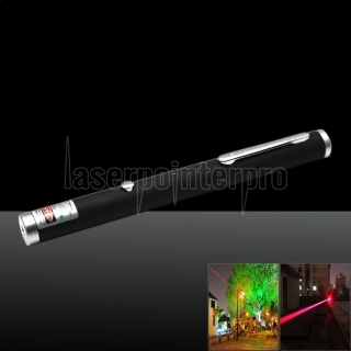 300mw 650nm Red Laser Beam Single-point Laser Pointer Pen with USB Cable Black