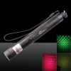 500mW 532nm 650nm 2-em-1 Dual Color Verde Red Light Laser Pointer Pen Preto