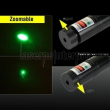 Laser 301 Adjustable Focus Burn 5mw 532nm Green Laser Pointer Pen Black