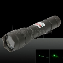 150mW 532nm Powerful Rechargeable Tailcap Switch Laser Pointer Pen with Charger Black