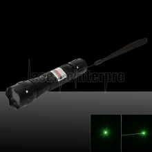 500mw 532nm Green Laser Pointer with Battery and Charger Black