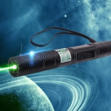 30000mw 532nm Green Point Light Style Séparé Cristal Rechargeable Stylo Pointeur Laser Set Noir
