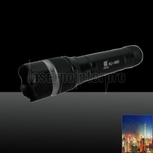 LT-85 500mw 532nm Green Beam Light Noctilucent Stretchable Adjustable Focus Laser Pointer Pen Black