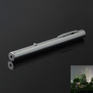 100mw 532nm Green Beam Light Single-point Light Style All-steel Laser Pointer Pen Bright Metal Color