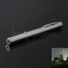 10mw 532nm Green Beam Light de un solo punto Light Style All-steel Laser Pointer Pen de metal brillante Color