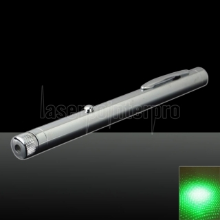 300mw 532nm Green Beam Light Starry Sky Light Style Todo acero puntero láser Pen Color brillante del metal