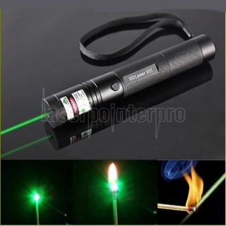 Laser 301 500mw 532nm green beam light singlepoint laser pointer pen black