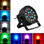 18W LED RGB Crystal Ball Shaped Stage Light Black