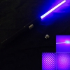 2000mW 450nm Blue Light Starry Star Style Zoomable with Laser Sword Black