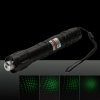5mW 532nm Green Laser Pointer with Free Battery & Charger Stainless Steel Black