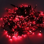 200-LED Red Light Outdoor Waterproof Christmas Decoration Solar Power String Light