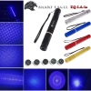 EAGLE ZQ-LA-1a 5000mW 450nm Pure Blue Beam 5-em-1 Kit Espada Laser Preto