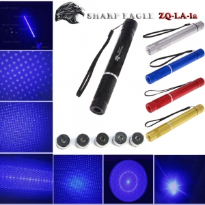 EAGLE ZQ-LA-1a 5000mW 450nm Pure Blue Beam 5-in-1 Kit spada laser nero