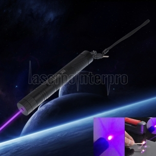 SHARP EAGLE 200mW 405nm Purple Light Starry Sky Style Puntero láser con soporte y estuche Negro