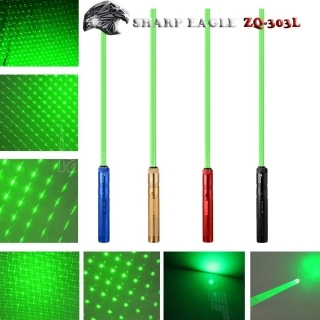SHARP EAGLE ZQ-303Z 500mW 532nm Green Light Cigarette impermeabile di alluminio e Matchstick Accendino Laser Sword nero