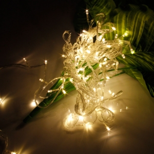 10M 100-LED Christmas Festivals Decoration 8 Working Modes Warm White Light Waterproof String Light (US Standard Plug)