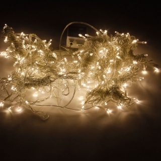 3M x 3M 300-LED Warm White Light Romantic Christmas Wedding Outdoor Decoration Curtain String Light (110V) EU Standard Plug