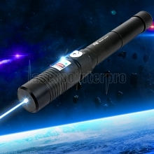 Separated Style High Power 6000mw 450nm Blue Light Alloy Laser Pointer Black