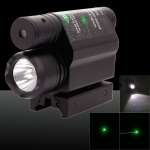 2-in-1 Professional 5mW 650nm grünes Licht Single-Point-Stil Zoomable Laserpointer Schwarz