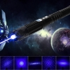 UKing ZQ-j8 50000mw 445nm Blue Beam 3-Mode Zoomable 5-en-1 Laser Pointer Pen Kit Negro