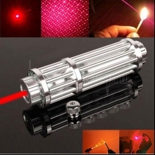 UKing ZQ-15HB 3000mW 650nm Red Beam Zoomable 5-in-1 Laser Pointer Pen Kit Silver