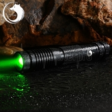 UKing ZQ-012L 3000mW 532nm feixe verde 4-Mode Zoomable Laser Pointer Pen Kit Preto