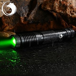 UKing ZQ-012L 2000mW 532nm Green Beam 4-Mode Zoomable Laser Pointer Pen Black
