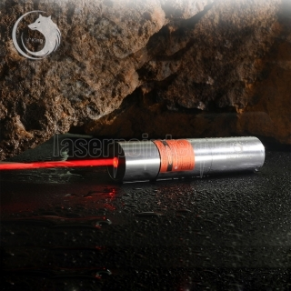 UKing ZQ-j12 1000 mW 638nm Pure Red Feixe Único Ponto Zoomable Laser Pointer Pen Kit Titanium Prata