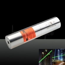UKing ZQ-j12L 5000mW 520nm Pure Green Beam Single Point Zoomable Laser Pointer Pen Kit Titanium Silver