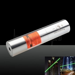 UKing ZQ-j12L 2000mW 520nm Pure Green Beam Point Unique Zoomer Laser Pointeur Stylo Kit Titanium Argent