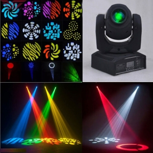 UKing ZQ-B54A 50W 1-LED 8 Efecto Rotary Pattern DMX-512 Autopropulsada Sound Control LED Stage Lamp Black