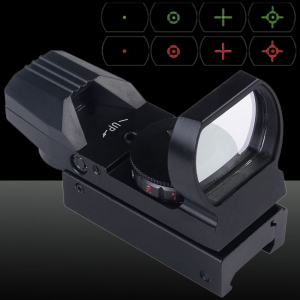 U`King ZQ-MZ01 Aluminum Red & Green Dot Reflex Laser Sight Set for Hunting Black