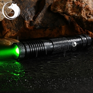 UKing ZQ-012L 5000mW 532nm Green Beam 4-Mode Zoomable Laser Pointer Pen Kit Black