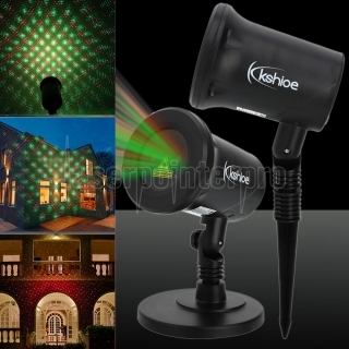 Kshioe Drehen Laserlicht LED Weihnachtsdekoration Outdoor-landschaft Rasen Lampe Us-stecker Red & Green Light