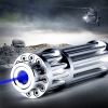 30000mw Quema 450nm 5 en 1 Skidproof Blue Laser Beam Laser Pointer Pen Silver