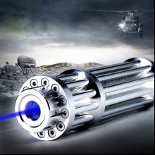 30000mw Burning 450nm 5 in 1 Skidproof Blue Laser Beam Laser Pointer Pen Silver