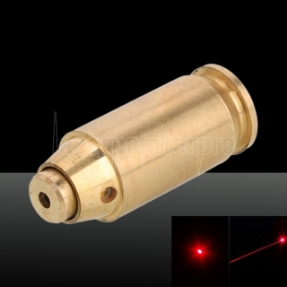 650nm Cartridge Red Laser Bore Sighter Laser Pen 3 x LR41 Batteries Cal: 45 Brass Color
