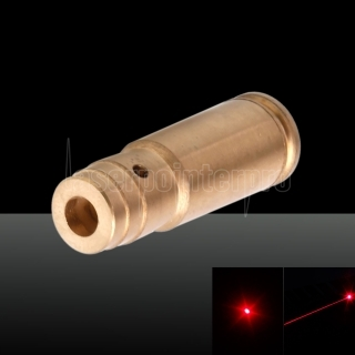 650nm Cartridge Red Laser Bore Sighter Laser Pen 3 x LR41 Batteries Cal: 9MM Large Brass Color