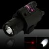 5mW 650nm Red Laser Sight e torcia a LED con attacco per pistola (con due batterie CR123)