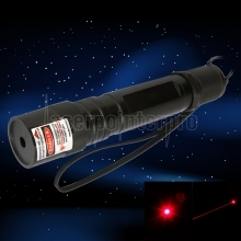 300mW 650nm Open-back Red Laser Pointer Pen Black(852-type)