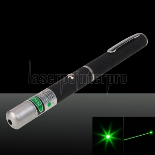 (Pas d'emballage) 1mW 532nm Green Laser Pointer Pen Black