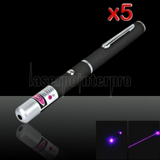 5Pcs 5mW 405nm Beam Light Purple Laser Pointer Pen