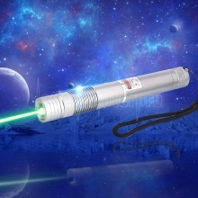 TS-002 1000mW 532nm Green Laser Pointer Pen Silver Gray