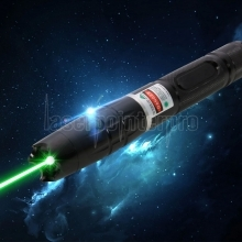 2000mW High Power Attacked Head Green Light Laser Pointer Suit Black